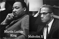 philosophies of mlk vs malcolm x The evolution of malcolm x: his philosophy in the struggle against racism malcolm x and martin luther king anti-colonial and anti-imperialist leaders and movements throughout africa and elsewhere all seem to uphold socialist philosophies in addition, malcolm writes that when he.